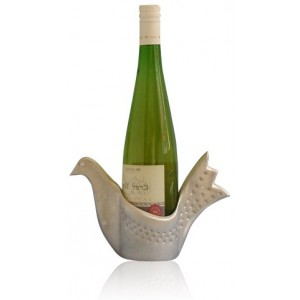 Metal Wine Holder with Bird Design from Shraga Landesman Wine Corks & Holders