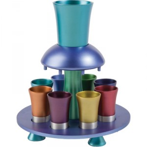 Anodized Aluminum Kiddush Fountain By Yair Emanuel - Rainbow